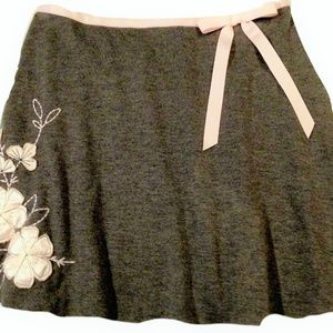 Amy Byer Womens  Grey Skirt Silk Pink Flowers